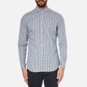 Hackett London Men's Twill Gingham Long Sleeve Shirt - Green