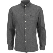 Threadbare Men's Harrison Long Sleeve Shirt - Charcoal