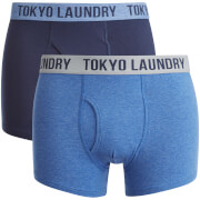 Tokyo Laundry Men's Earsby 2 Pack Boxers - Midnight Blue/Cornflower Blue