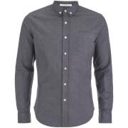Crosshatch Men's Almond Long Sleeve Shirt - Black