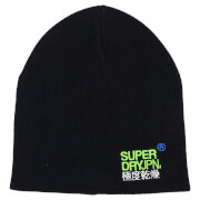 Superdry Windhiker Embroidery Beanie - Dark Indigo Twist