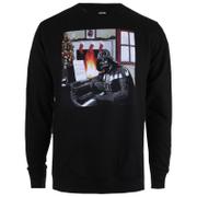 Star Wars Men's Darth Vader Piano Weihnachs-Sweatshirt – Schwaz