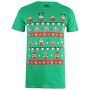 Despicable Me Men's Christmas Pattern T-Shirt - Irish Green