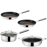 Jamie Oliver by Tefal Stainless Steel 4 Piece Pan Set