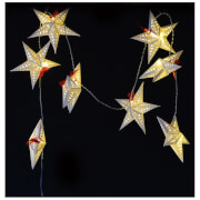 Bark & Blossom Star String Lights - White