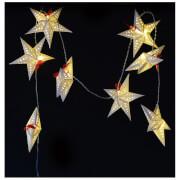 Bark & Blossom Star String Lights - White