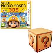Super Mario Maker for Nintendo 3DS + Question Mark Block Storage Tin