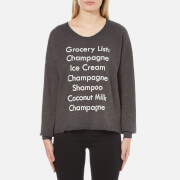 Wildfox Women's Grocery List 5am Sweatshirt - Clean Black