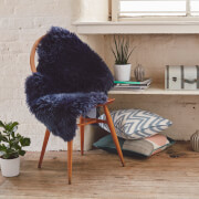 Royal Dream 100% Sheepskin Rug - Midnight Blue