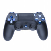 Playstation 4 Custom Controller - Matte Black & Chrome Blue