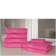 Highams 100% Egyptian Cotton 7 Piece Towel Bale - Fuchsia