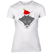 Fox with Santa Hat Women's T-Shirt