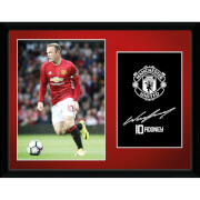 Manchester United Rooney 16-17 Framed Photographic - 16