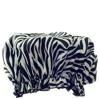 HYDREA LONDON ECO FRIENDLY SHOWER CAP - ZEBRA