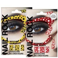Rock Cosmetics Nail Rock Nail Wrap Duo- Seeing Spots Red and Yellow