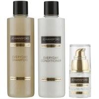 Jo Hansford Expert Colour Care Everyday Shampoo, Conditioner (250ml) with Mini Illuminoil (15ml)