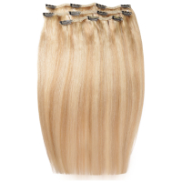Extensiones de cabello Deluxe Clip-In de 45,7 cm de Beauty Works - Rubio California 613/16