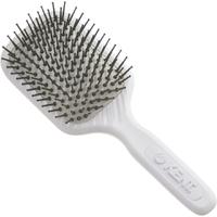 Cepillo de pelo AH9W de púas de tamaño medio con cabezal amortiguado deKent- Blanco