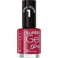 Rimmel Super Gel Nail Polish Duo Kit (2 x 12ml) - Rock 'n' Roll