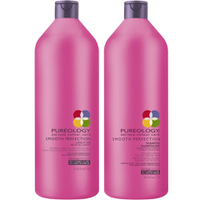 Pureology Smooth Perfection Shampoing (1000ml et Apres-shampoing (1000ml).