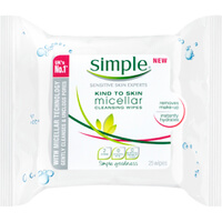 Simple Micellar Cleansing Wipes (25 Wipes)