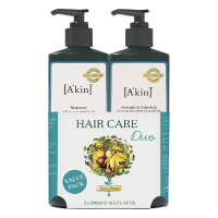 Duo shampooing au romarin et après-shampooing à l'avocat et au calendula A'kin 500 ml