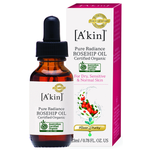 A'kin Pure Radiance Organic Rosehip Oil (23ml)