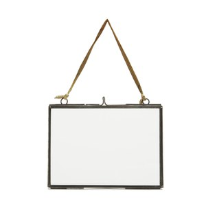 Nkuku Medium Kiko Glass Frame - Matt Grey - Landscape 5