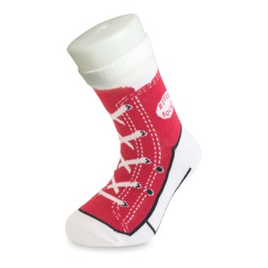 Silly Socks Sneaker - Red - Kids' Size 1-4