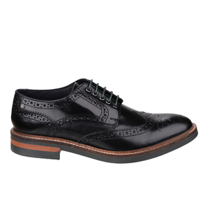 Base London Men's Woburn Brogue Shoes - Black