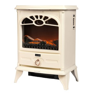 Warmlite WL46014C Stove Fire - Cream - 2000W