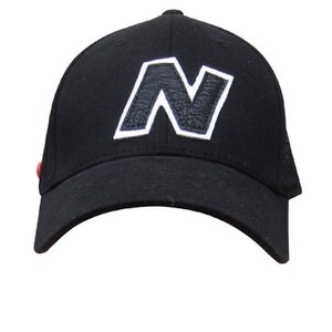 New Balance Unisex Yankey 6 Panel Fitted Baseball Cap - Cotton Spandex Black/White