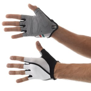 Santini Hook Gel Gloves - White