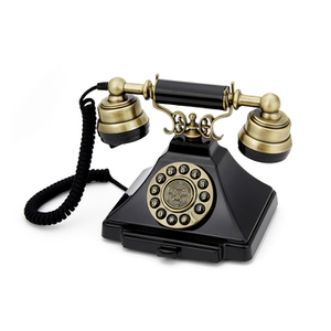 GPO Retro Duke Telephone with Push Button Dial - Black