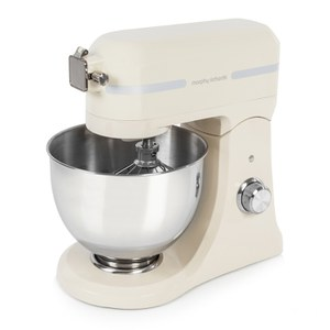 Morphy Richards 400009 Professional Diecast Stand Mixer with Guard - Cream