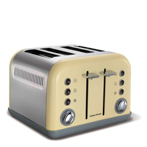 Morphy Richards 242003 New Accents 4 Slice Toaster - Cream