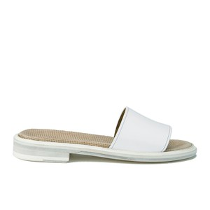 Paul Smith Shoes Women's Harbour Leather Slide Sandals - Bianco Oxford
