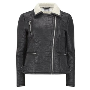ONLY Women's Biker Jacket - Black