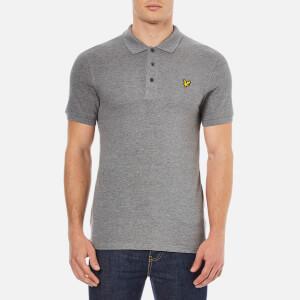 Lyle & Scott Men's Short Sleeve Plain Pique Polo Shirt - Mid Grey Marl