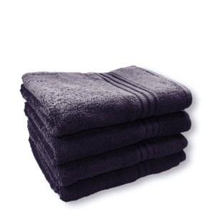Restmor 100% Ägyptische Baumwolle 4 Stück Badetücher - Dunkelblau