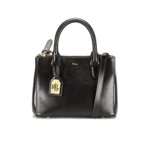 Lauren Ralph Lauren Women's Newbury Mini Double Zip Satchel - Black/Gold