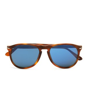 Persol Thin D-Frame Men's Sunglasses - Terra Di Siena
