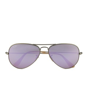 Ray-Ban Women's Aviator Large Metal Sunglasses - Demiglos Brushed Bronze/Lilac Mirror - 58mm