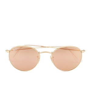 Ray-Ban Women's Round Metal Sunglasses - Matte Gold/Brown Mirror Pink - 50mm