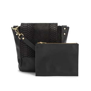 Danielle Foster Women's Bucket Small Shoulder Bag - Black Python