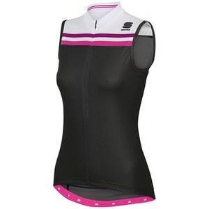 Sportful Allure Women's Sleeveless Jersey - Black/White