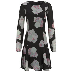 VILA Women's Cross Floral Dress - Phantom