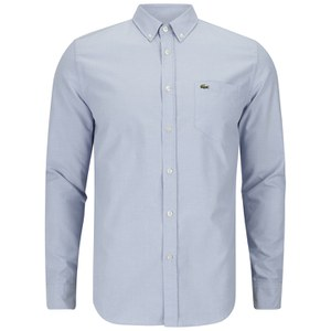 Lacoste Men's Long Sleeve Oxford Shirt - Boreal Blue