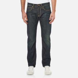 Edwin Men's ED-55 Dusk Used Relaxed Tapered Jeans - Dark Blue