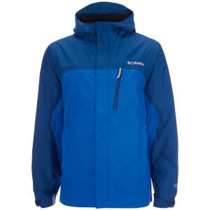 Columbia Men's Pouring Adventure Waterproof Jacket - Hyper Blue/Marine Blue